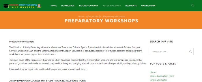 New Page: Preparatory workshops