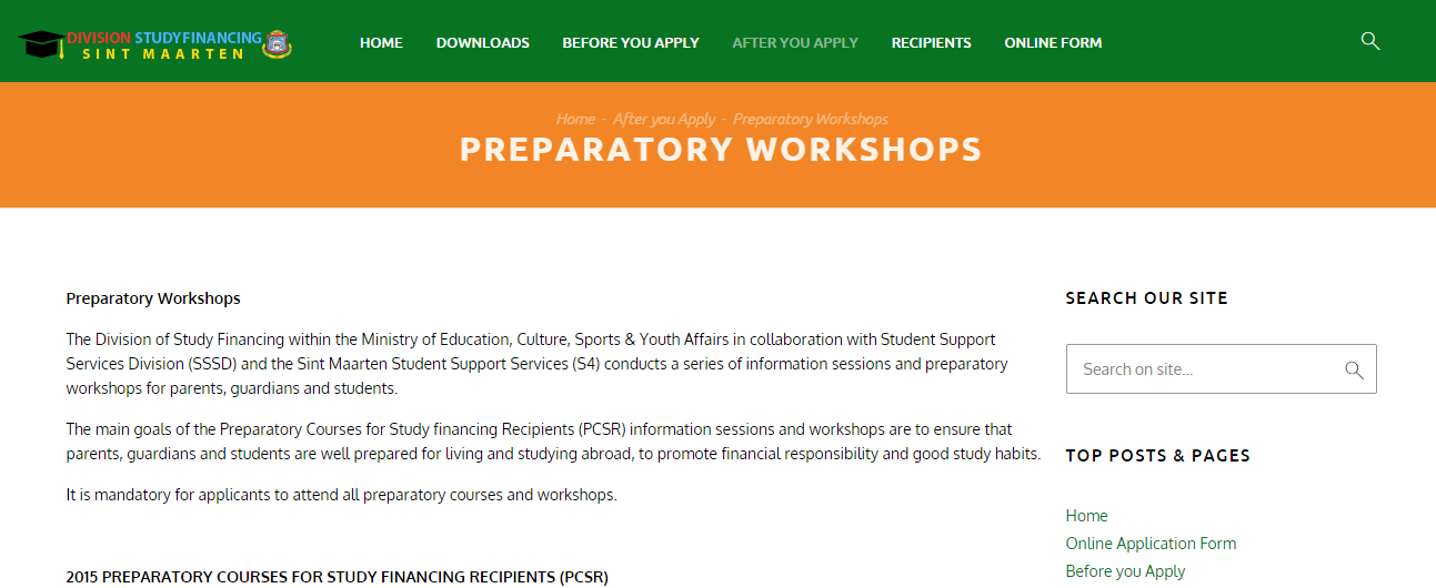 preparatory workshop PCSR DFS St Maarten